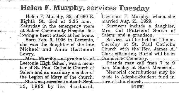 Obituary | lowry genealogy